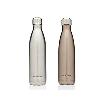 送料無料!Godinger Silver Art Water Bottle Stainless Steel/rose Gold 17oz, Set of 2好評販売中