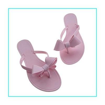 Shoe'N Tale サンダル ビーチサンダル 女性用 リボン付き 細いストラップベルト カラー: ピンク