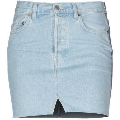 VETEMENTS x LEVI'S デニムスカート ブルー S コットン 100% デニムスカート
