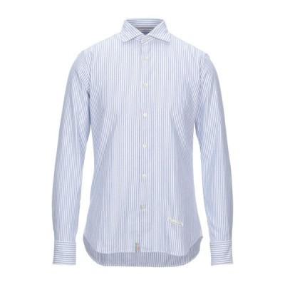 TINTORIA MATTEI 954 ストライプ柄シャツ ファッション  メンズファッション  トップス  シャツ、カジュアルシャツ  長袖 ブルー