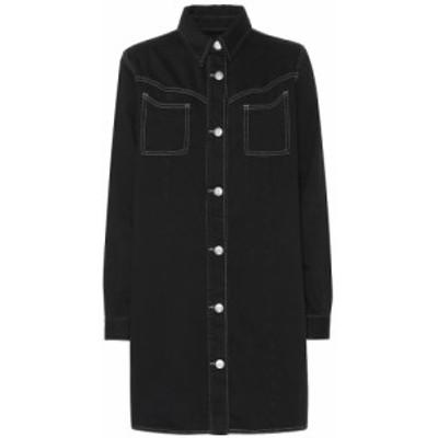 ガニー Ganni レディース ワンピース デニム シャツワンピース ワンピース・ドレス Denim shirt dress black washed