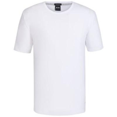 ヒューゴボス メンズ Tシャツ トップス BOSS Men's Regular/Classic-Fit Cotton T-Shirt White
