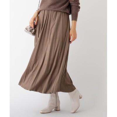OPAQUE.CLIP(オペークドットクリップ) エコスウェードプリーツスカート【WEB限定サイズ】