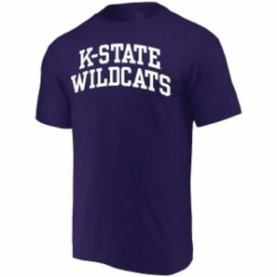 Alta Gracia アルタ グラシア スポーツ用品  Alta Gracia (Fair Trade) Kansas State Wildcats Purple Arched Wordmark T-Shirt