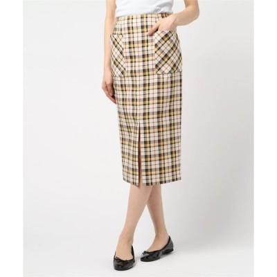 スカート チェックタイトポケットスカート