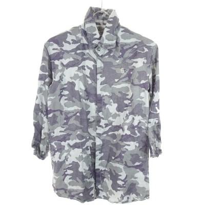 FranCisT MORKS スワロハイビスカル装飾カモフラシャツ グレー サイズ:2 (和歌山店) 200221