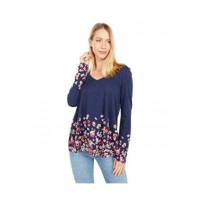 Joules レディース 女性用 ファッション Tシャツ Harbour Light Swing Print - Navy Floral