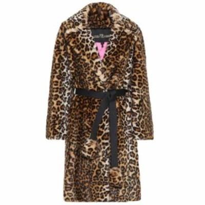 マーク ジェイコブス Marc Jacobs レディース コート アウター Leopard-print faux-fur coat Multi