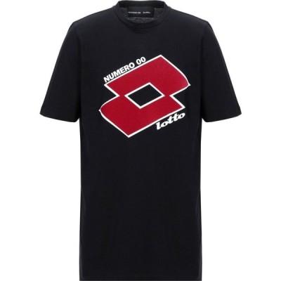ヌメロ NUMERO 00 for LOTTO メンズ Tシャツ トップス T-Shirt Black