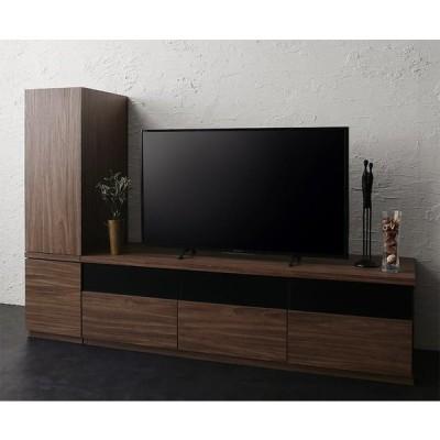 キャビネットが選べるテレビボードシリーズ add9 アドナイン 2点セット(テレビボードW140+キャビネット) 木扉 ウォルナットブラウン