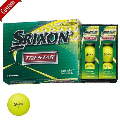 【オウンネーム】ダンロップ スリクソン TRI-STAR ボール 2020年モデル 1ダース(12個入り) Col:プレミアムパッションイエロー#SRIXON#TRISTAR#トライスター