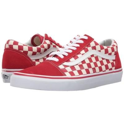 ヴァンズ レディース スニーカー シューズ・靴 Old Skool (Primary Check) Racing Red/White