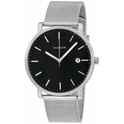 スカーゲン 腕時計 Skagen SKW6314 Hagen ハーゲン Black Dial Mesh Stainless Steel メンズ Watch