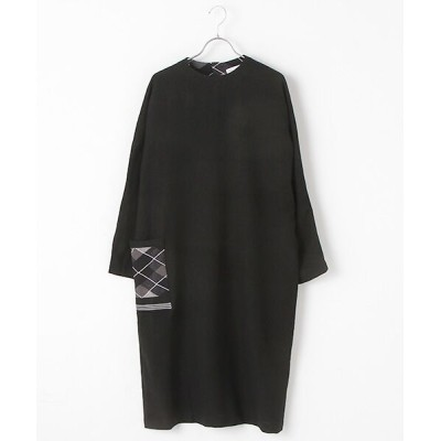 STYLE & EDIT/スタイル&エディット DRESS WITH SOCK KNIT POCKETS BLACK 1