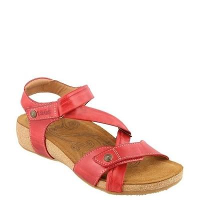 タオスフットウェア レディース サンダル シューズ Universe Banded Leather Wedge Sandals