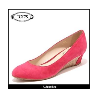 トッズ パンプス TODS 靴 レディース レッド スウェード ウエッジソールパンプス