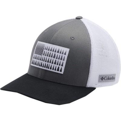 コロンビア Columbia メンズ キャップ 帽子 Mesh Tree Flag Ball Cap Titanium/White/Black