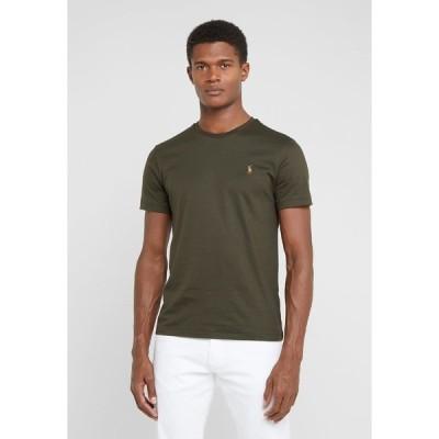 ラルフローレン Tシャツ メンズ トップス CUSTOM SLIM SOFT TEE - Basic T-shirt - estate olive