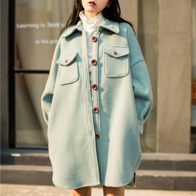 ジャケット CPO 無地 ゆったり オーバーサイズ 大人可愛い カジュアル フェミニン ガーリー こなれ感 秋冬 お出かけ デート 女子会