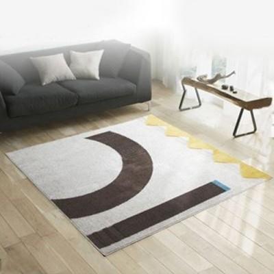 ラグマット/絨毯 〔LINEKE RUG 200cm×200cm アイボリー〕 正方形 日本製 『NEXTHOME』 〔リビング ダイニング〕 〔送料無料〕