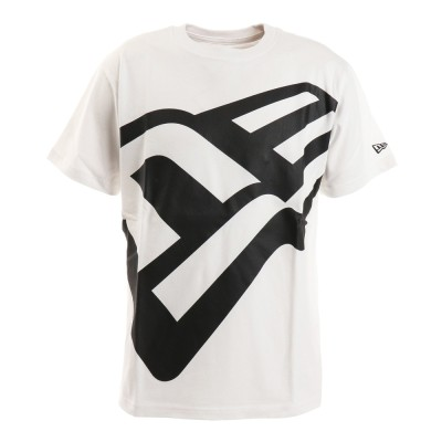 NEW ERAウェアTシャツ 半袖コットン ズームアップ ロゴ 12325132 ホワイト