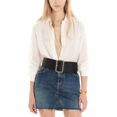 SAINT LAURENT PARIS/イヴ サンローラン White Silk shirt レディース 春夏2021 512192Y100W9935 ju