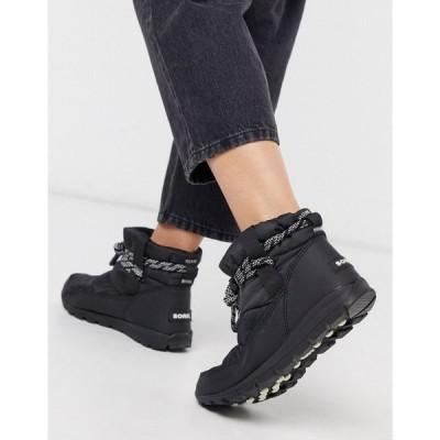 ソレル Sorel レディース ブーツ シューズ・靴 Whitney waterproof short boots in black ブラック