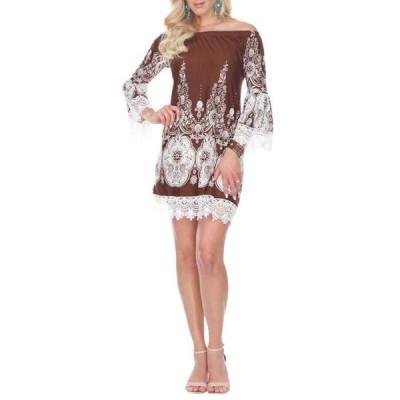 ホワイトマーク レディース ワンピース トップス Mya Lace Trim Dress
