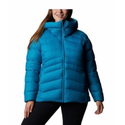 コロンビア レディース コート アウター Plus Size Autumn Park¢ Down Hooded Jacket Fjord Blue/Dark