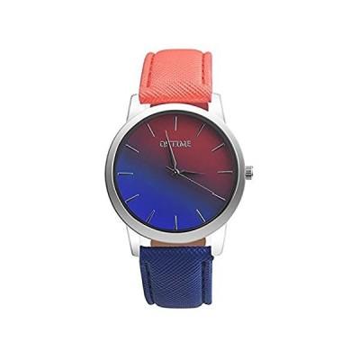 【新品・送料無料】レディースクォーツ腕時計、CookiレインボーデザインユニークアナログファッションクリアランスLady WatchesメスWatches on カジュ