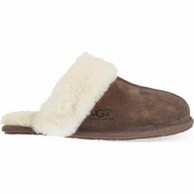 アグ UGG レディース スリッパ シューズ・靴 Scuffette II slippers DARK BROWN