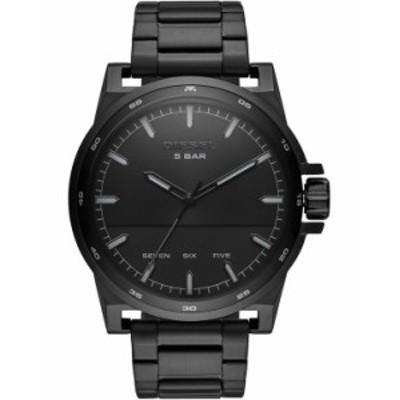 ディーゼル レディース 腕時計 アクセサリー Men's D48 Black Stainless Steel Bracelet Watch 48mm Black
