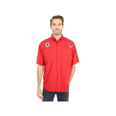 Columbia College Ohio State Buckeyes Tamiami Short Sleeve Shirt メンズ シャツ トップス Intense Red