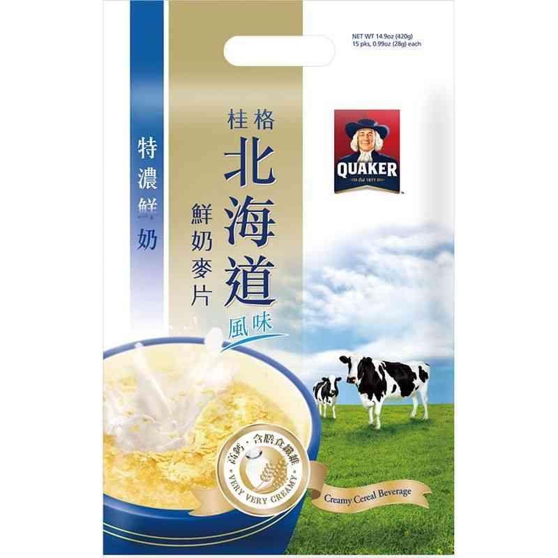 桂格北海道鮮奶麥片-特濃鮮奶