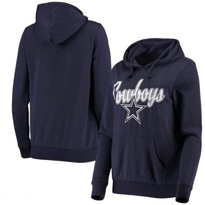 NFL Dallas Cowboys Womens Jayln Pullover Hoodie  Navy  X-Large 並行輸入品