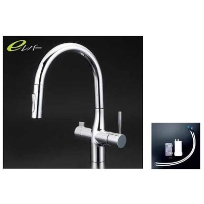 KVK【KM6081SCEC】浄水器付シングルレバー式シャワー付混合栓