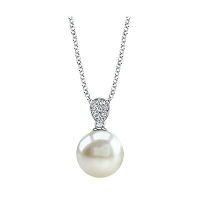 THE PEARL SOURCE 8-9mm Genuine White Freshwater Cultured Pearl & Cubic