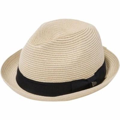 ニューエラ(NEW ERA) ハット フェドーラ グログランバンド ナチュラルペーパーロープ FEDORA GBAND 12363151 【帽子 ストローハット カ