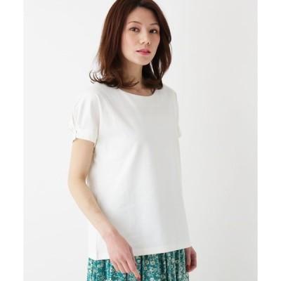 tシャツ Tシャツ 【M-LL/吸水速乾】スーピマコットン袖パールプルオーバー