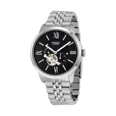 フォッシル Townsman ブラック ダイヤル オートマチック メンズ 腕時計 ME3107