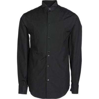 アルマーニ EMPORIO ARMANI メンズ シャツ トップス solid color shirt Black