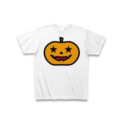 【Halloween】カボチャおばけ【ハロウィン】 Tシャツ(ホワイト)