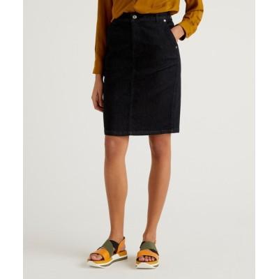 BENETTON (UNITED COLORS OF BENETTON) / ベーシックひざ丈デニムスカート WOMEN スカート > デニムスカート