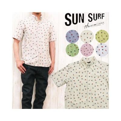サンサーフ SUN SURF 半袖 ボタンダウンシャツ オックスフォード HULA ss34973