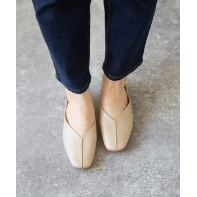 welleg from outletshoes / 2WAY Vカットバブーシュパンプス スクエアトゥフラットシューズ WOMEN シューズ > パンプス