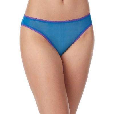オンゴサマー OnGossamer レディース ショーツのみ インナー・下着 Solid Gossamer Mesh Hip Bikini 3202 Sapphire Blue
