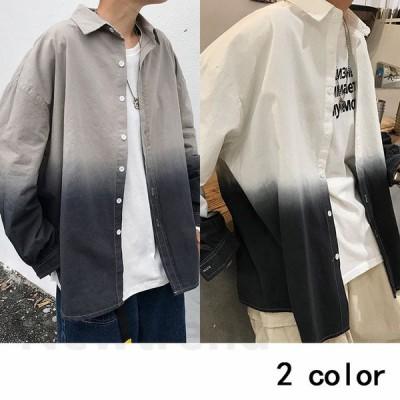 シャツ メンズ 長袖 シャツ ジャケット オックスフォードシャツ 細身 タイト シャツ トップス メンズ