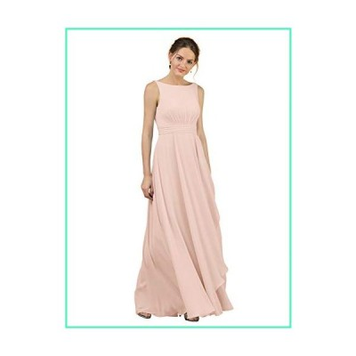 Alicepub A-Line Chiffon Blush Bridesmaid Dress Long Party Evening Dresses Prom Gown Maxi, Pearl Pink, US10並行輸入品