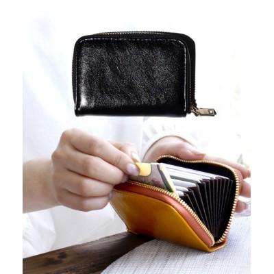 (exrevo/エクレボ)カードケース じゃばら かわいい スリム 薄型 大容量 レディース メンズ カード入れ シンプル 「PUレザー ジャバラ 名刺入れ」 革 ポイントカード 大容量/ユニセックス ブラック