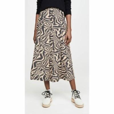 ガニー GANNI レディース スカート Printed Crepe Skirt Tannin